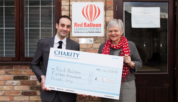 Abcam donates to Red Balloon
