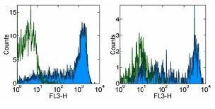 Flow Cytometry - Anti-CD45RA antibody [HI100] (PE/Cy7 ®) (ab155383)