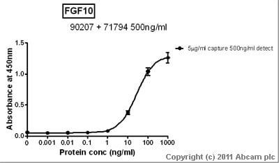 Sandwich ELISA - FGF10 protein (Active) (ab73196)