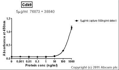 Sandwich ELISA - Cdk9 protein (Tagged) (ab85603)