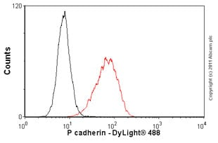 Flow Cytometry - Anti-P cadherin antibody [MM0508-9V11] (ab89900)