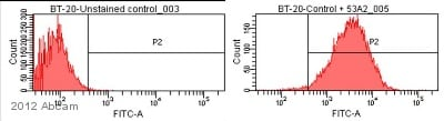 Flow Cytometry - Anti-Integrin alpha V + beta 6 antibody [avß6 53a.2] (ab97588)