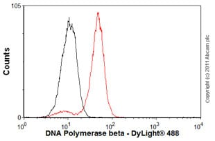 Flow Cytometry - Anti-DNA Polymerase beta antibody [61] (ab1831)