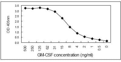 Sandwich ELISA - Anti-GM-CSF antibody [KT35] (HRP) (ab106790)