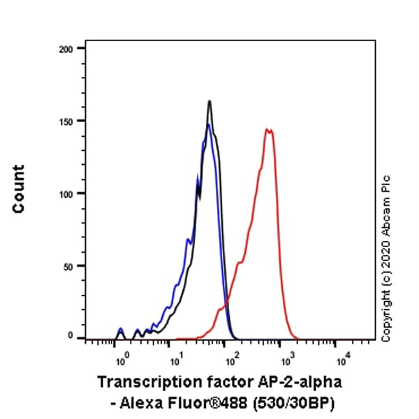 Flow Cytometry - Anti-Transcription factor AP-2-alpha antibody [EPR2688(2)] (ab108311)
