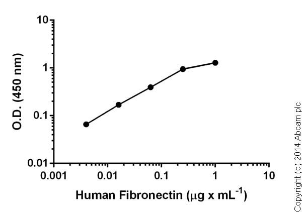 Sandwich ELISA - Fibronectin Human ELISA Kit (ab108847)