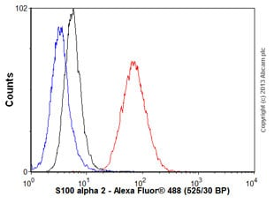 Flow Cytometry - Anti-S100 alpha 2/S100A2 antibody [EPR5392] (ab109494)