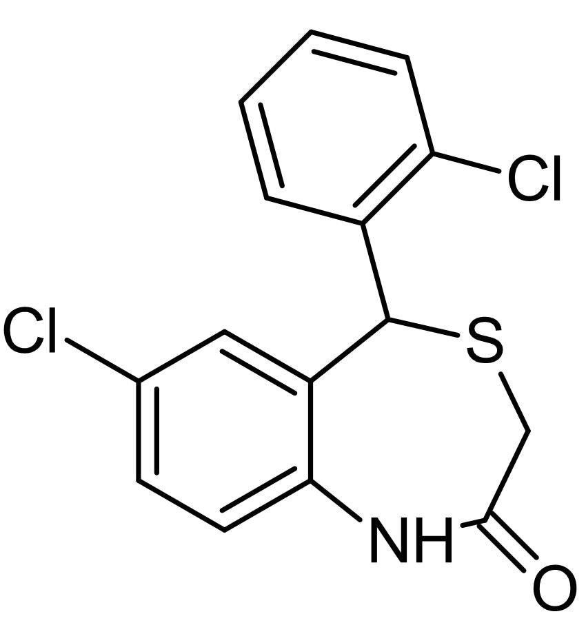 Chemical Structure - CGP 37157, Na<sup>+</sup>-Ca<sup>2+</sup> exchange inhibitor (ab120012)