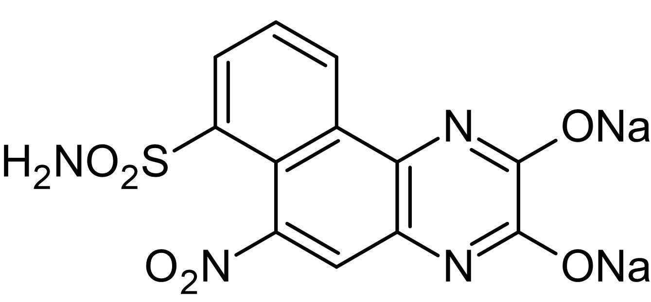Chemical Structure - NBQX disodium salt, AMPA / kainate antagonist (ab120046)