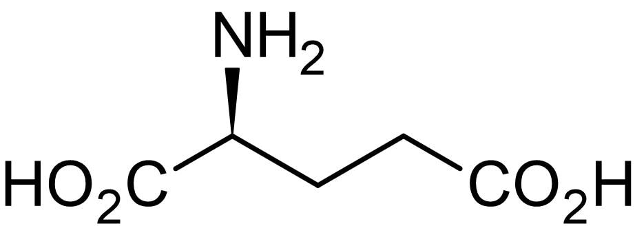 Chemical Structure - L-Glutamate, excitatory neurotransmitter (ab120049)