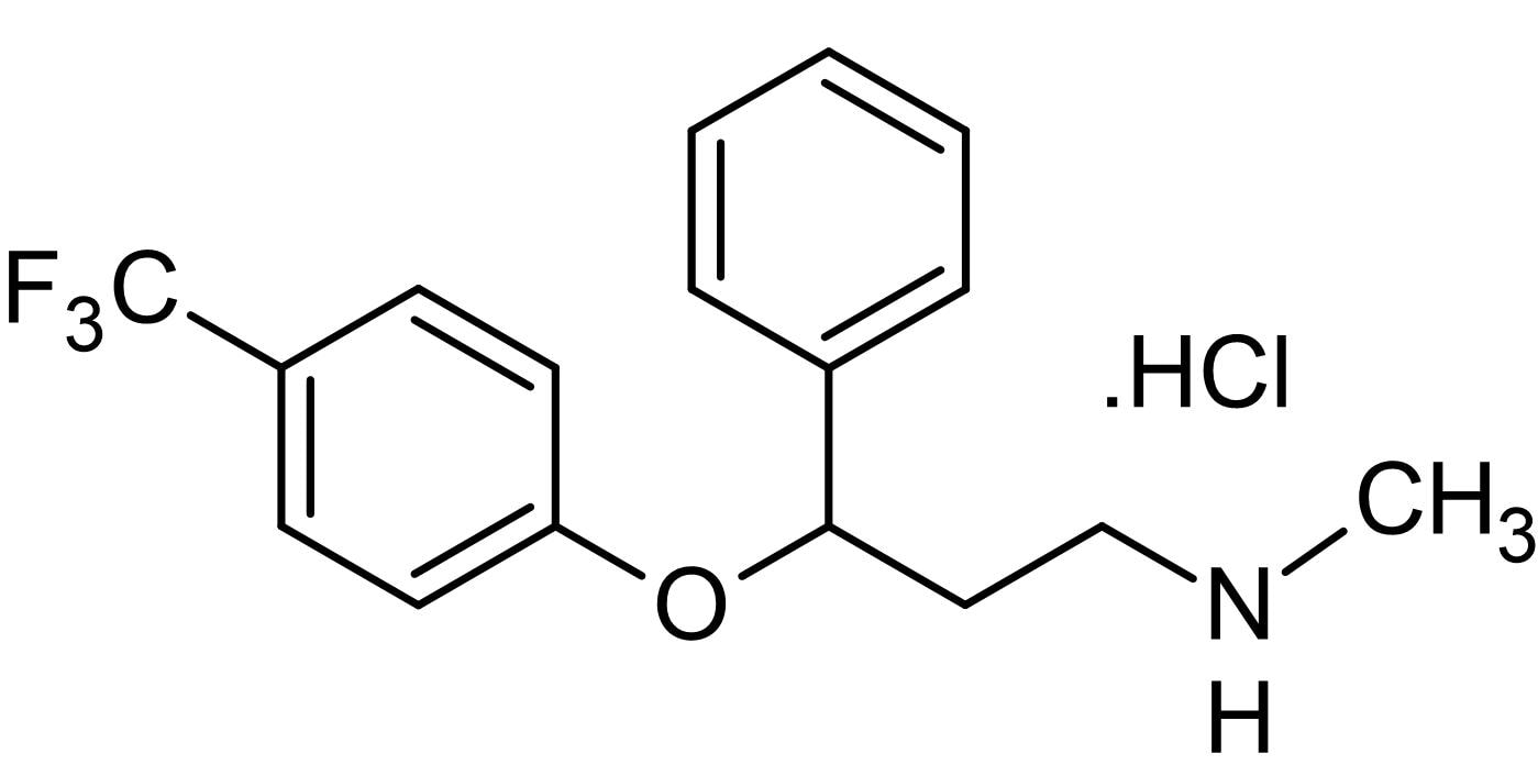 Chemical Structure - Fluoxetine hydrochloride, 5-HT reuptake inhibitor (ab120077)