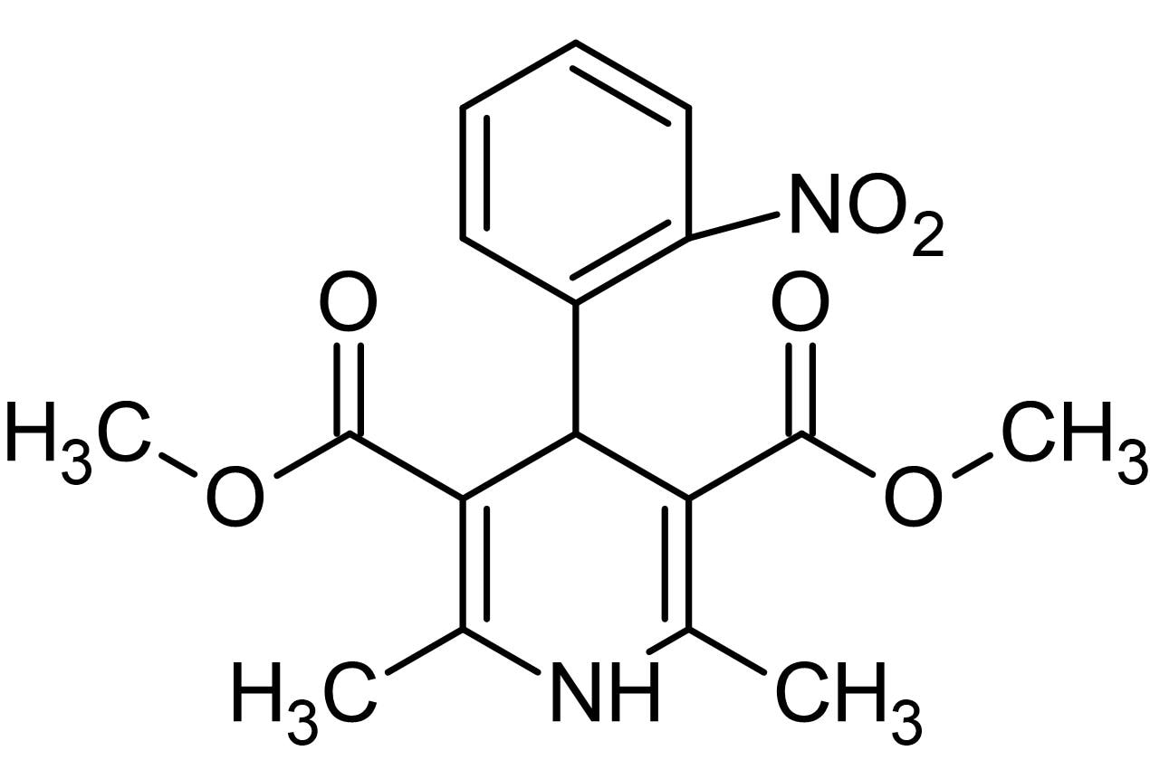 Chemical Structure - Nifedipine, L-type Ca<sup>2+</sup> channel blocker (ab120135)