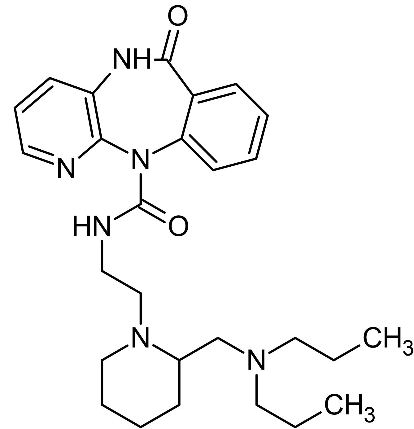 Chemical Structure - AF-DX 384, M<sub>2</sub>/M<sub>4</sub> antagonist (ab120146)