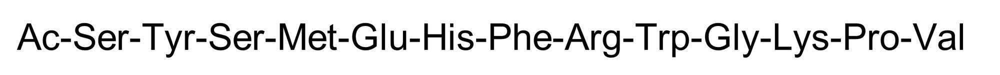 Chemical Structure - alpha-MSH (free acid), Endogenous melanocortin receptor agonist (ab120205)