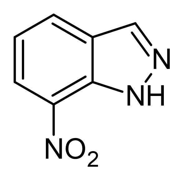 Chemical Structure - 7-Nitroindazole, NOS inhibitor (ab120233)
