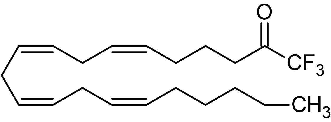 Chemical Structure - AACOCF3 (Arachidonyl trifluoromethyl ketone), Phospholipase-A2 inhibitor (ab120350)