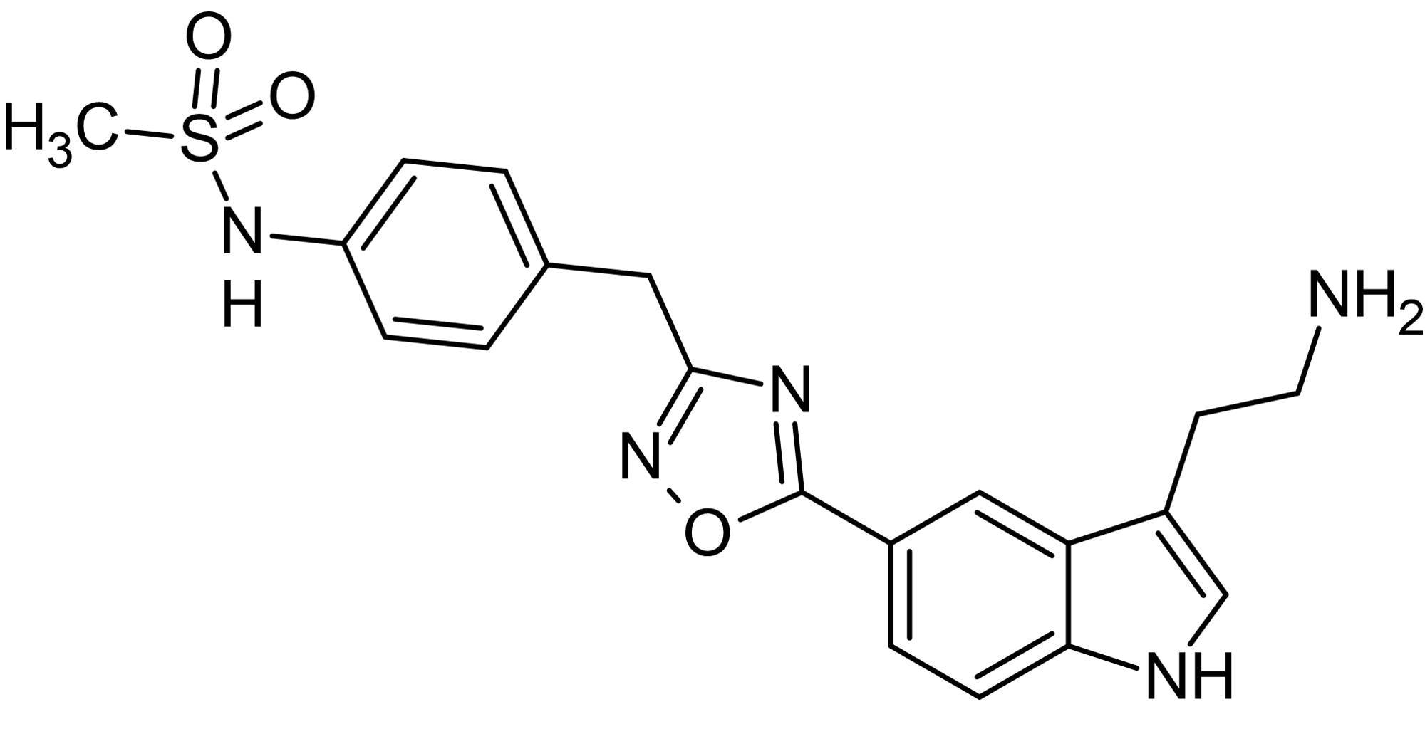 Chemical Structure - L-694,247, 5-HT<sub>1D</sub>/5-HT<sub>1B</sub> receptor agonist (ab120515)