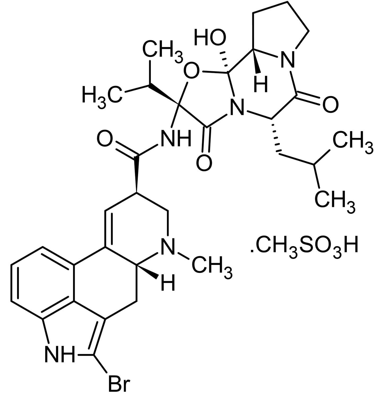 Chemical Structure - Bromocriptine mesylate, D<sub>2</sub>-like dopamine receptor agonist (ab120574)