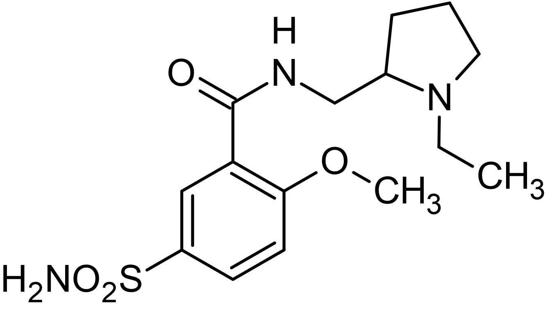 Chemical Structure - (R,S)-Sulpiride, D<sub>2</sub>-like dopamine receptor antagonist (ab120578)