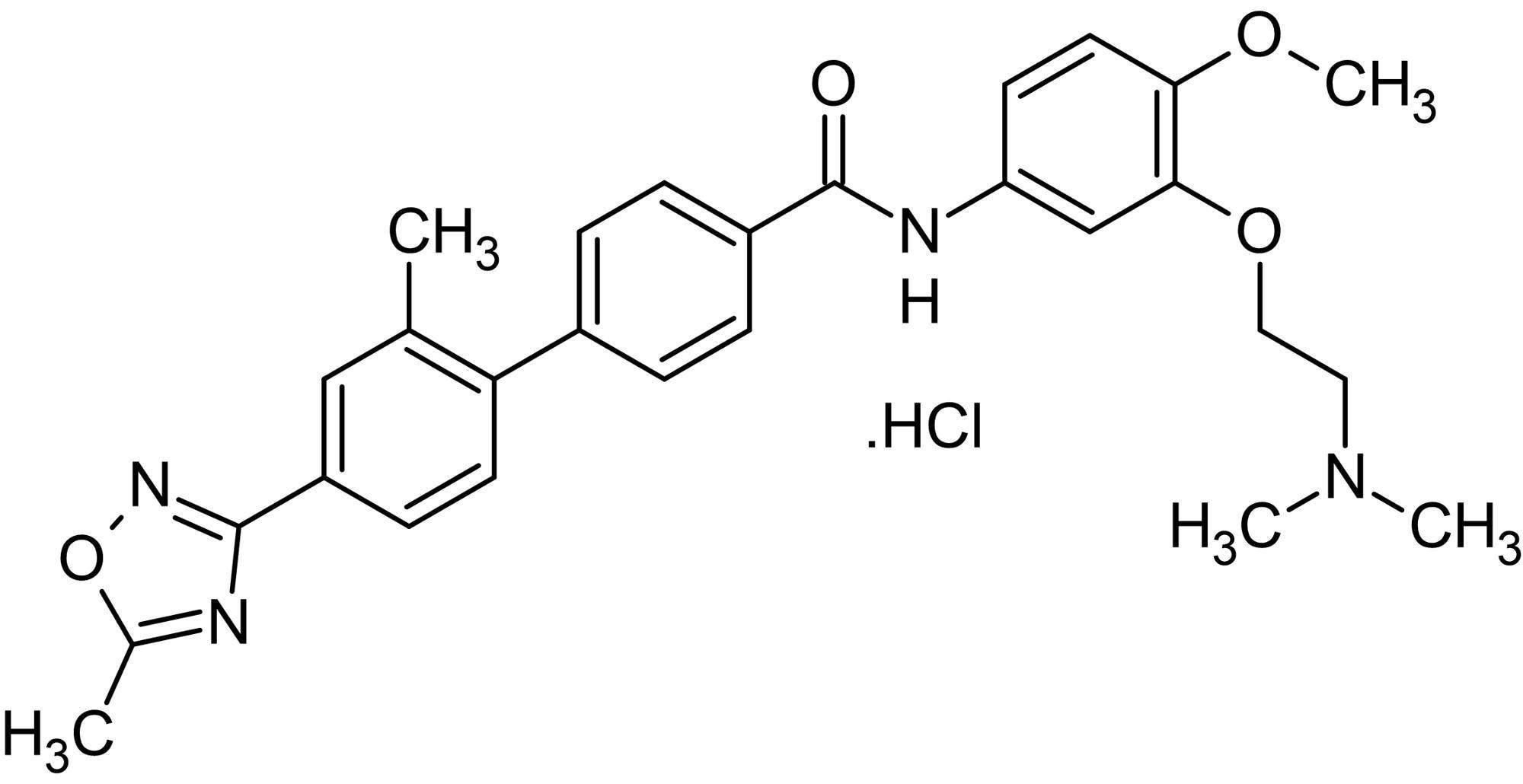 Chemical Structure - SB 216641 hydrochloride, h5-HT<sub>1B&nbsp;</sub>antagonist (ab120583)