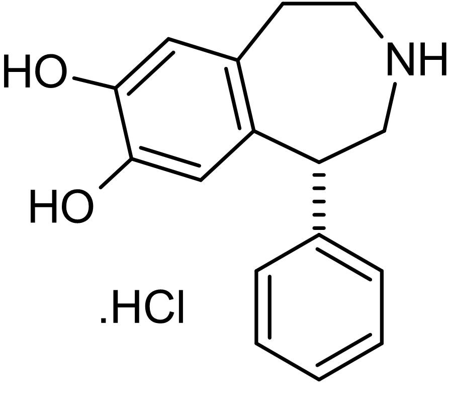 Chemical Structure - (R)-(+)-SKF38393 hydrochloride, D<sub>1</sub> partial agonist (ab120619)