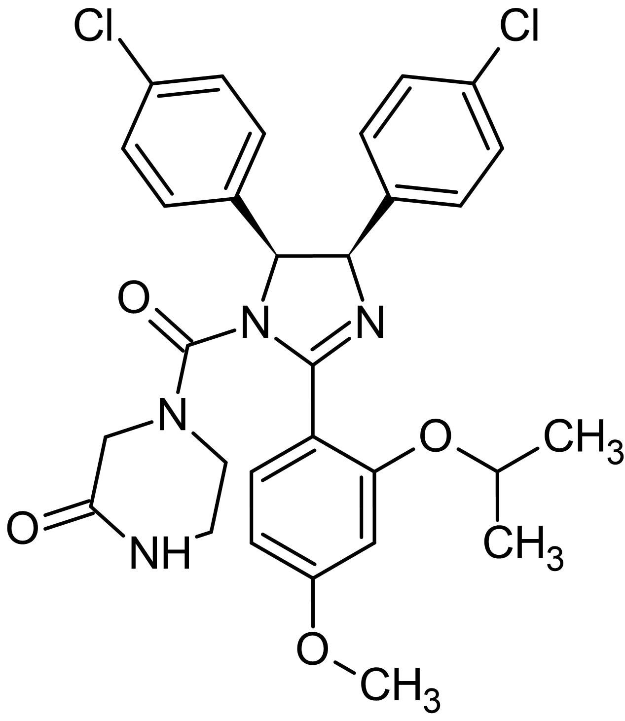 Chemical Structure - (±)-Nutlin-3, MDM2 antagonist (ab120646)