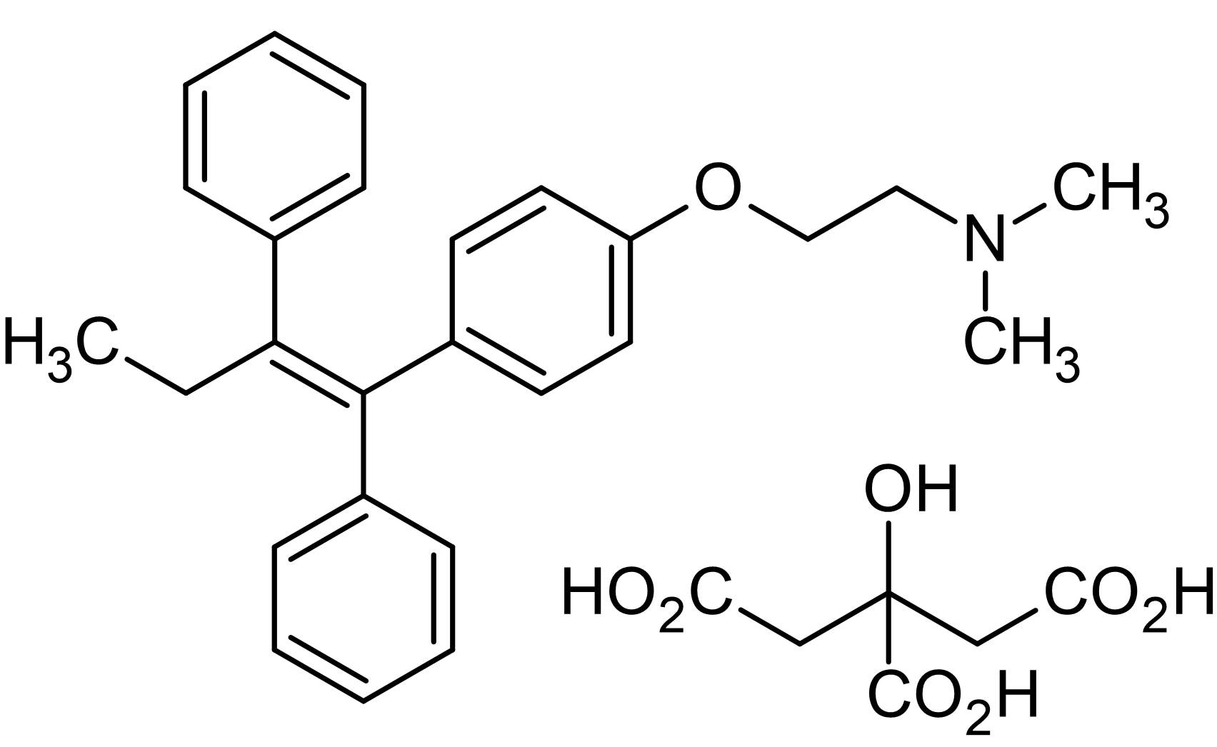 Chemical Structure - Tamoxifen citrate, Estrogen receptor antagonist and partial agonist (ab120656)