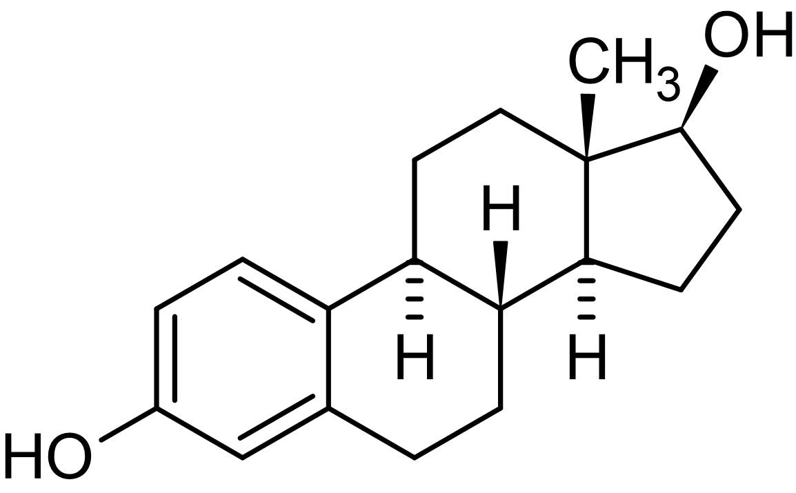 Chemical Structure - 17beta-Estradiol, Selective agonist of ER receptor (ab120657)