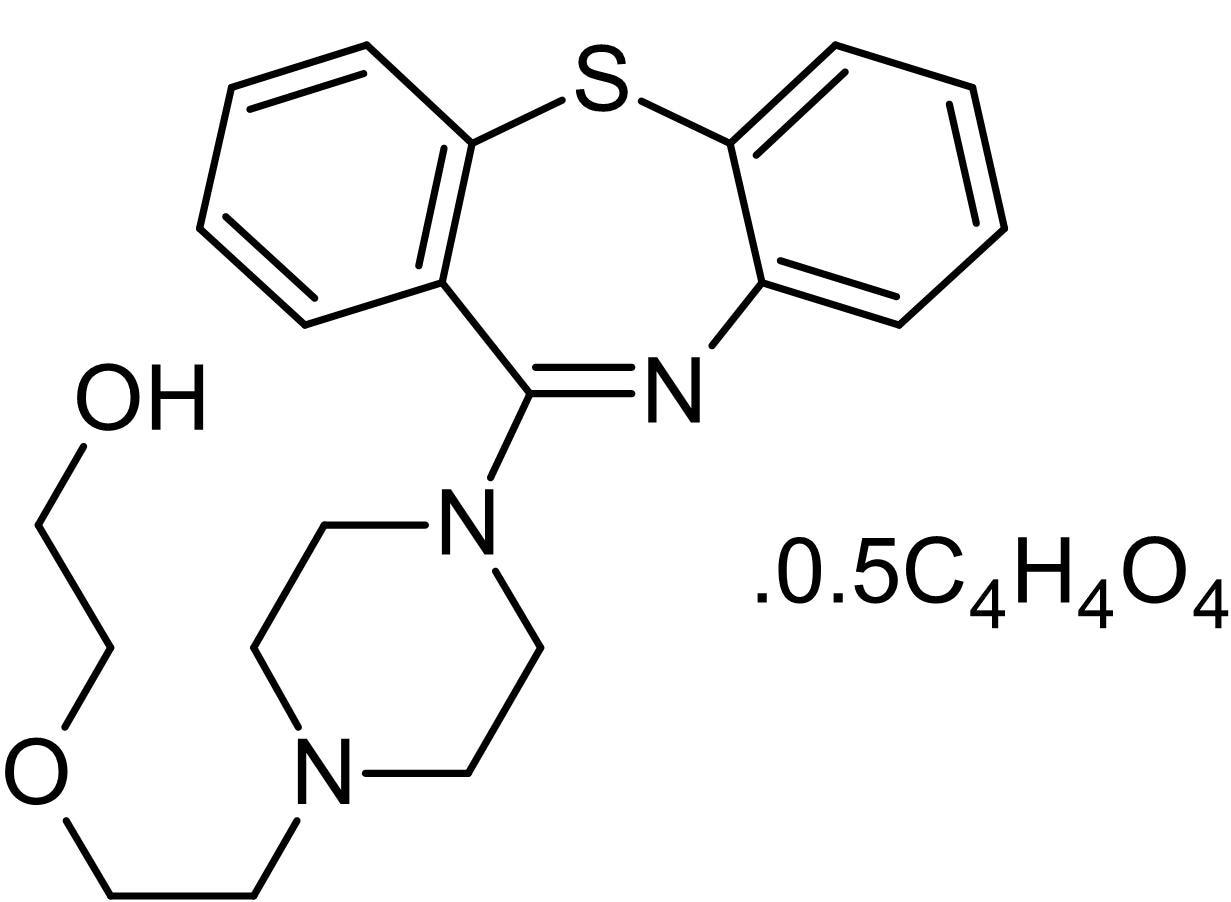 Chemical Structure - Quetiapine hemifumarate, D<sub>2</sub> and 5-HT<sub>2</sub> antagonis (ab120737)