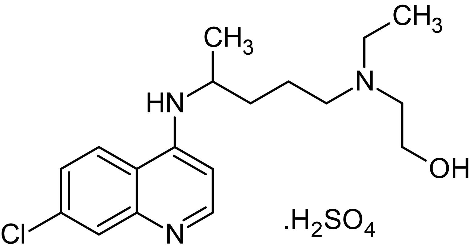 Chemical Structure - Hydroxychloroquine sulfate, Anti-inflammatory and antimalarial agent (ab120827)