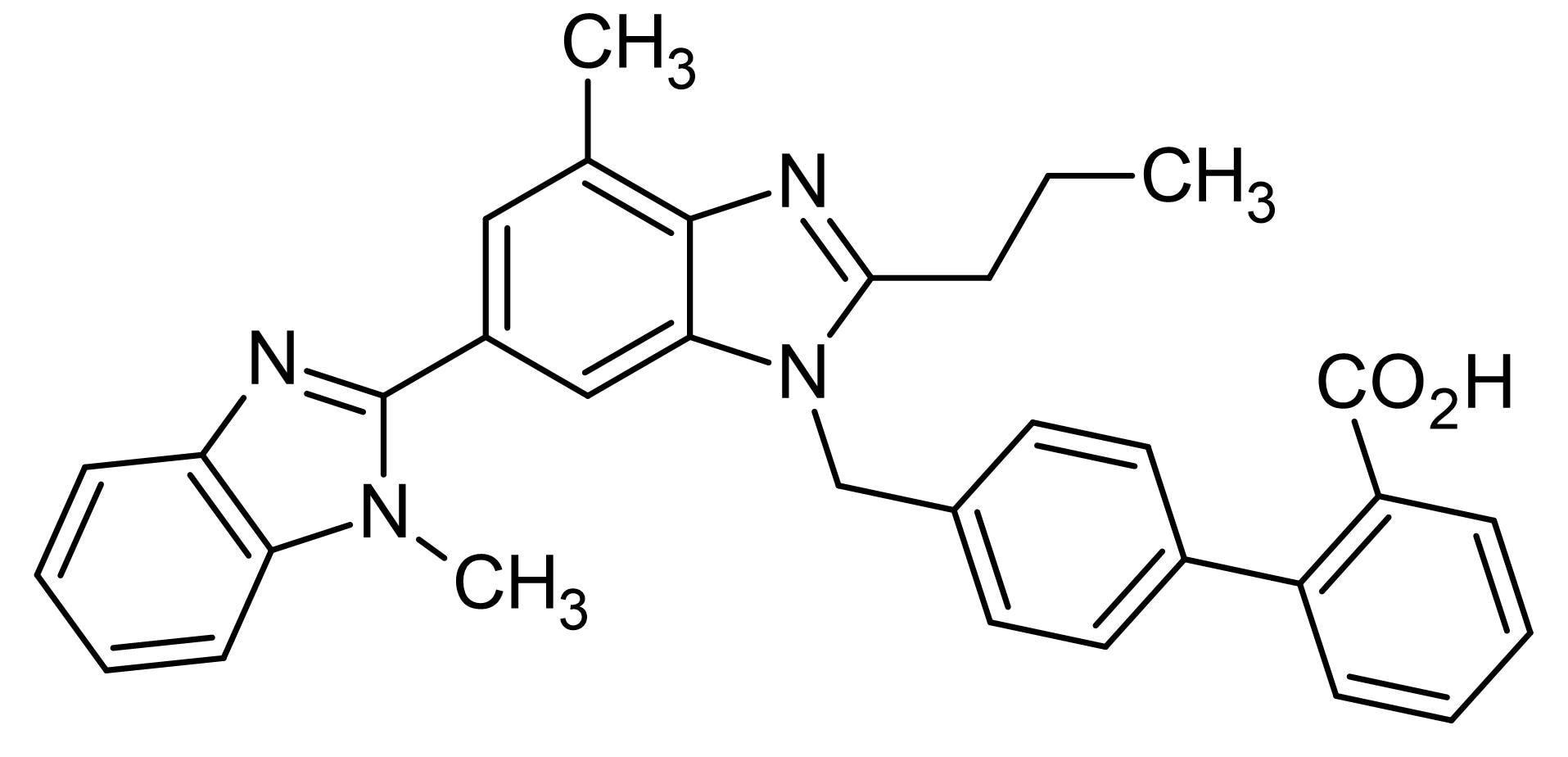 Chemical Structure - Telmisartan, angiotensin II (AT<sub>1</sub>) antagonist (ab120831)