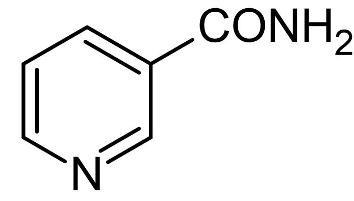 Chemical Structure - Nicotinamide, PARP inhibitor (ab120864)