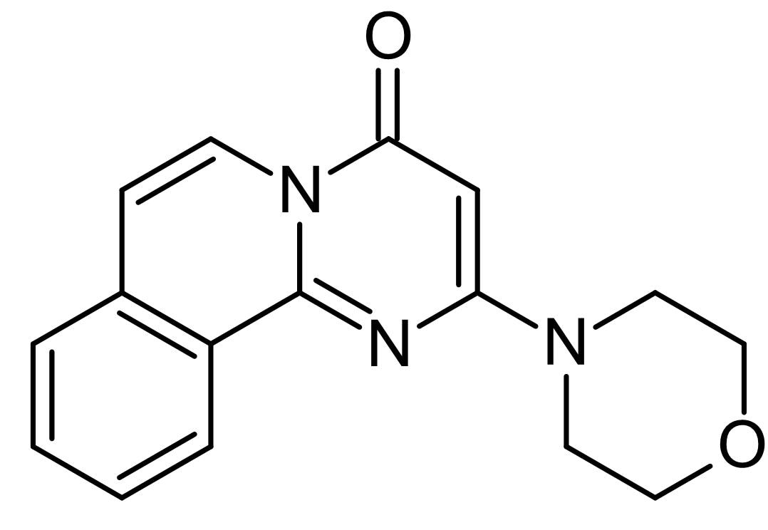 Chemical Structure - Compound 401, DNA-dependent protein kinase and mTOR inhibitor (ab120968)