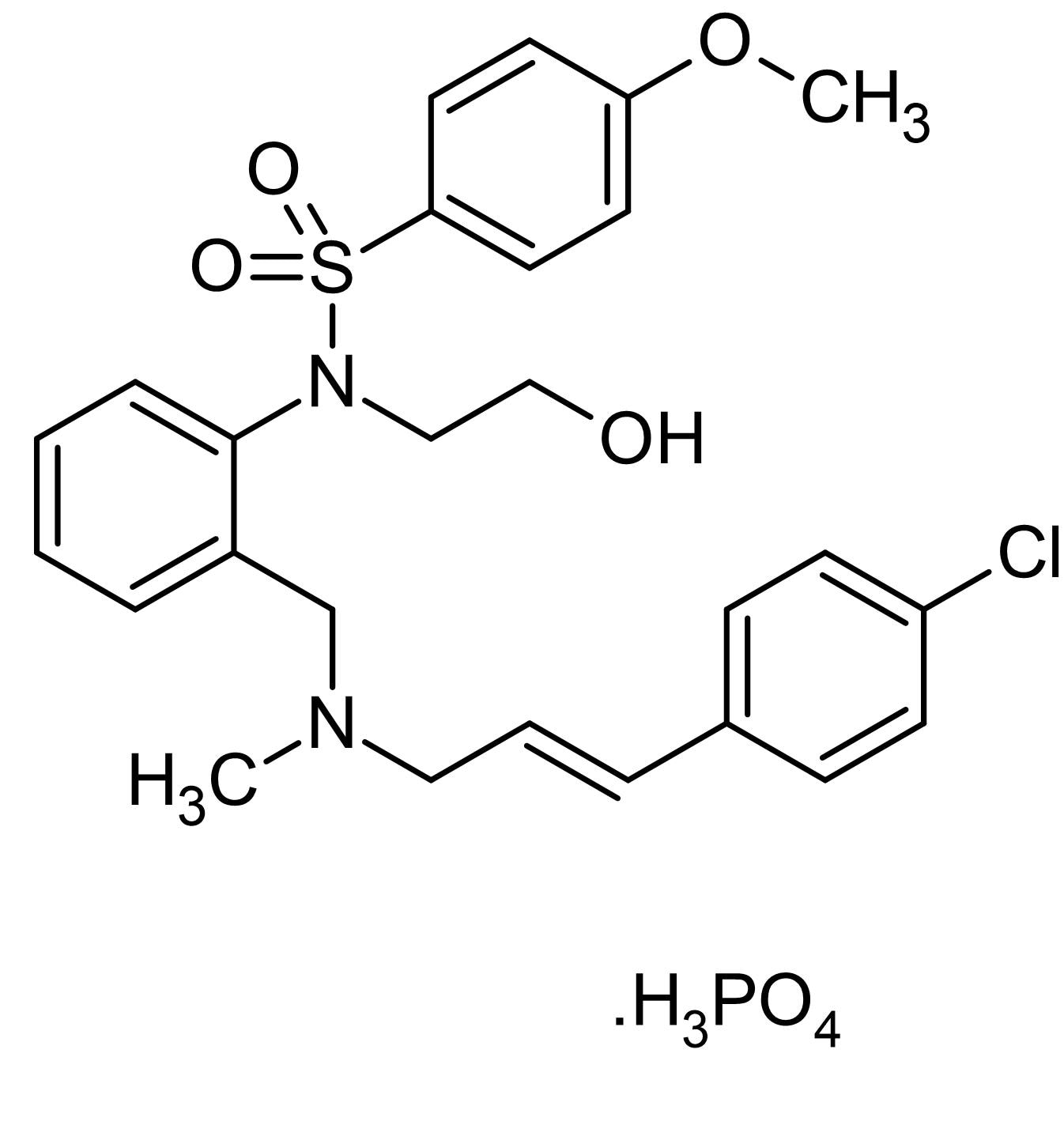 Chemical Structure - KN-93 (water soluble), CaMK II inhibitor (ab120980)