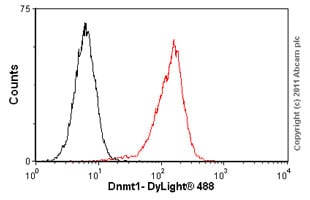Flow Cytometry - Anti-Dnmt1 antibody [60B1220.1] - ChIP Grade (ab13537)
