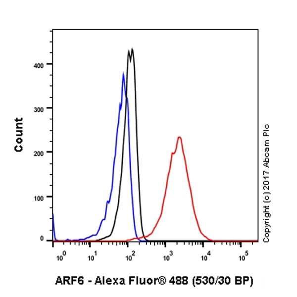 Flow Cytometry - Anti-ARF6 antibody [EPR8357] (ab131261)