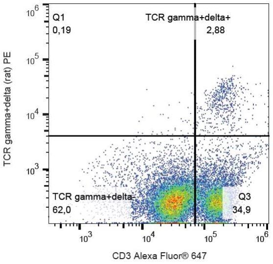 Flow Cytometry - PE Anti-TCR gamma + TCR delta antibody [V65] (ab131596)