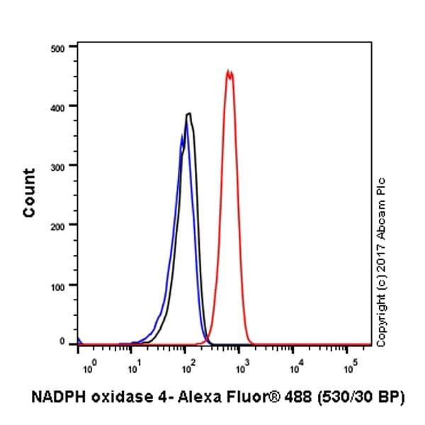 Flow Cytometry - Anti-NADPH oxidase 4 antibody [UOTR1B493] (ab133303)