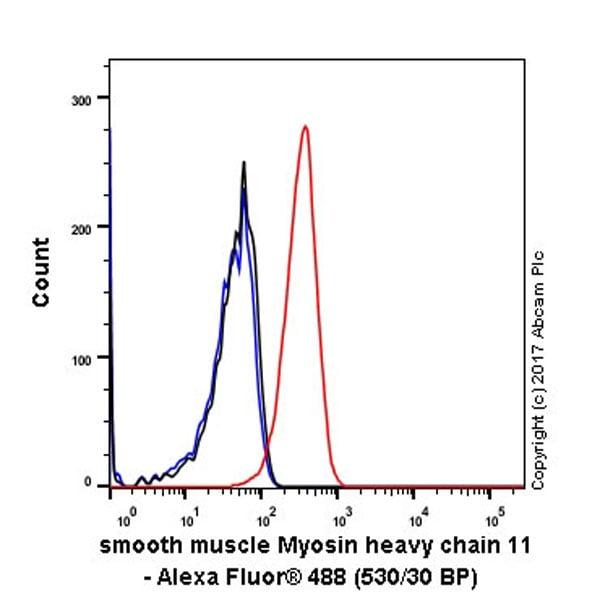 Flow Cytometry - Anti-smooth muscle Myosin heavy chain 11 antibody [EPR5336(B)] (ab133567)