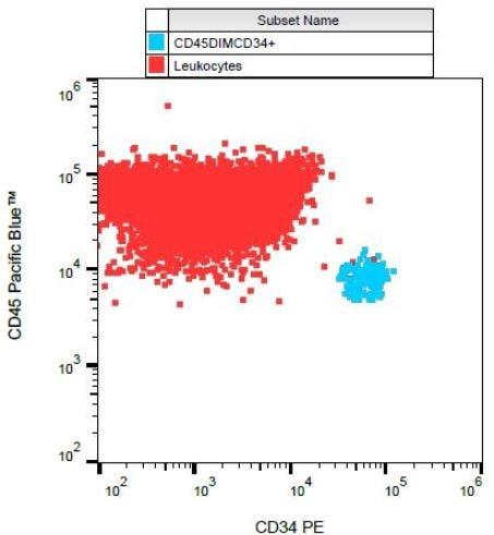 Flow Cytometry - Anti-CD34 antibody [581], prediluted (Phycoerythrin) (ab134207)