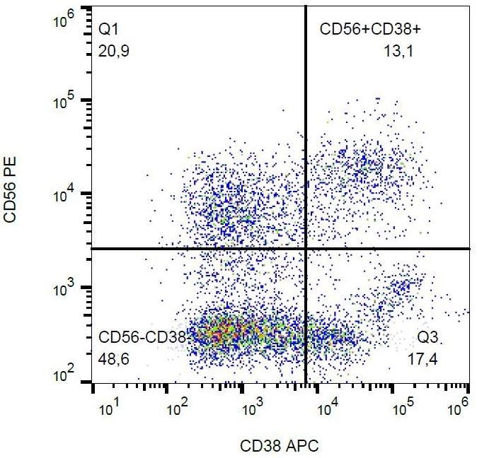 Flow Cytometry - APC Anti-CD38 antibody [HIT2], prediluted (ab134399)