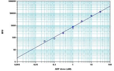 Sample Standard Curve for ADP