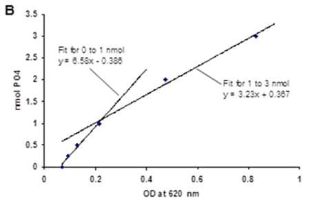 Phosphate Standard Curve.