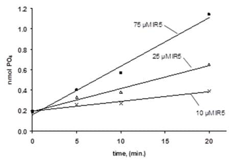 Time Courses of PTP1B Phosphate Release from the PTP1B Substrate.