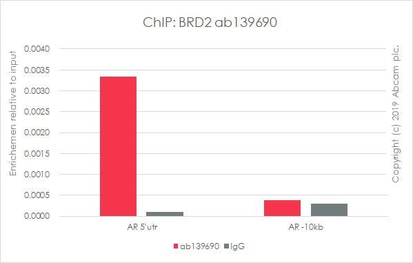 ChIP - Anti-BRD2 antibody [EPR7642] (ab139690)