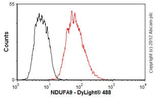 Flow Cytometry - Anti-NDUFA9 antibody [20C11B11B11] (ab14713)