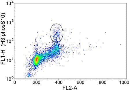 Flow Cytometry - Anti-Histone H3 (tri methyl K9, phospho S10) antibody [mAbcam 14955] - ChIP Grade (ab14955)
