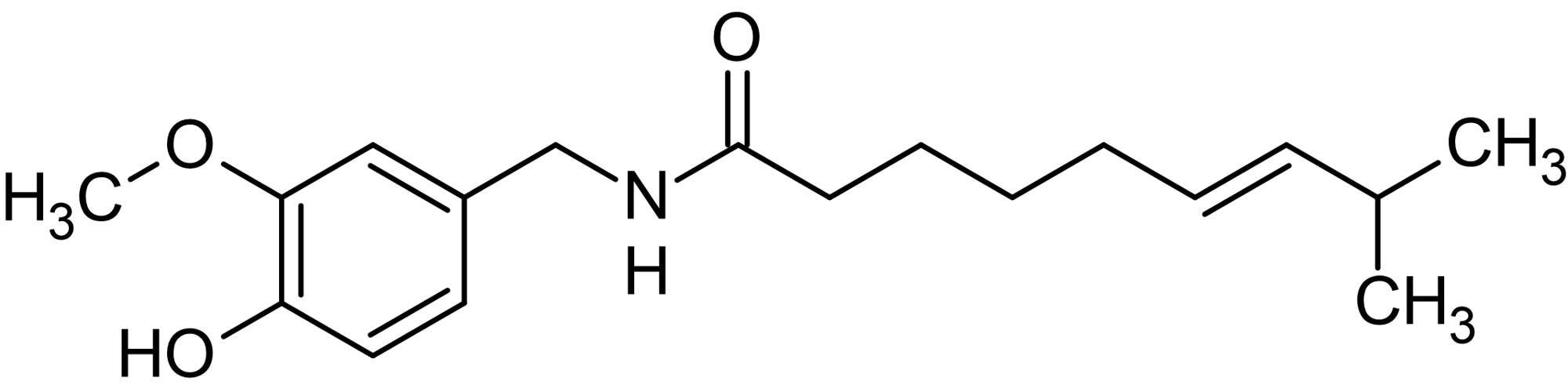 Chemical Structure - (E)-Capsaicin, Vanilloid receptor agonist (ab141000)