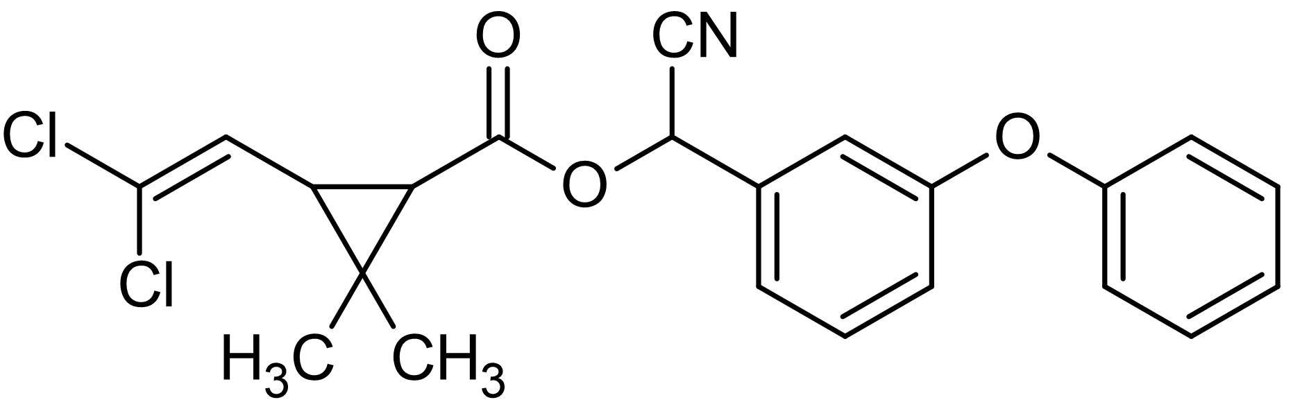 Chemical Structure - Cypermethrin, Neurotoxin (ab141018)