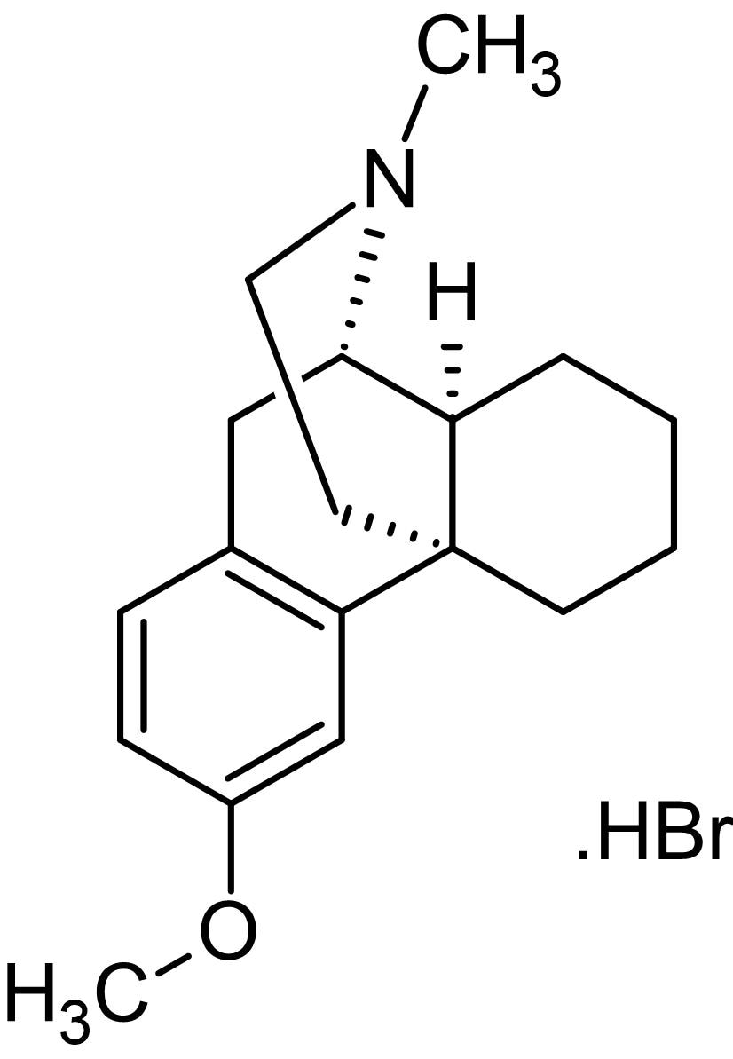 Chemical Structure - Dextromethorphan hydrobromide, NMDA receptor antagonist (ab141028)